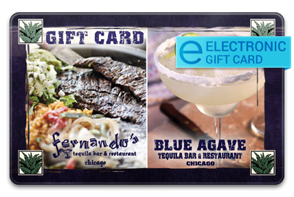 Blue Agave Tequila Bar E-Gift Card